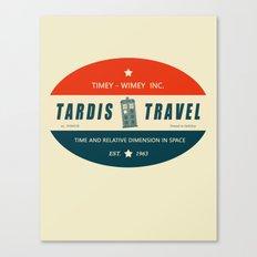 Tardis Travel - Fantasy Travel Logo Canvas Print