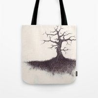 tree on the hill Tote Bag