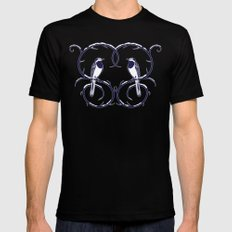 Love Birds Pattern SMALL Mens Fitted Tee Black