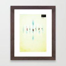 Fence: Facebook Shapes & Statuses Framed Art Print