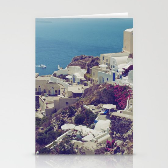 Oia from afar  Stationery Card