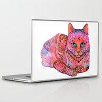 sunset Laptop & iPad Skins featuring SUNSET CAT by ola liola