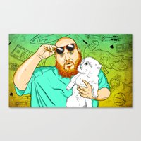 Action Bronson In The Ki… Canvas Print