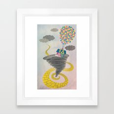 The Wizard of Up Framed Art Print