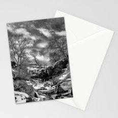 Waterfall Snowfall Stationery Cards