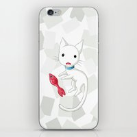 Cat and Fish iPhone & iPod Skin