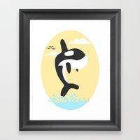 Da' Whale Framed Art Print