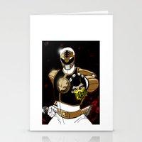 White Ranger Vs. Scorpio… Stationery Cards