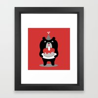 Cake Bear Framed Art Print