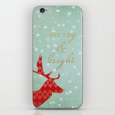 Merry & Bright iPhone & iPod Skin