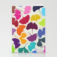 Stationery Cards featuring Ginkgo Multicolor by Garima Dhawan