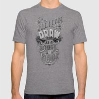 All I Can Draw Mens Fitted Tee Tri-Grey SMALL