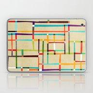 The Map (after Mondrian) Laptop & iPad Skin
