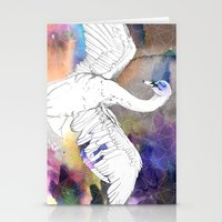 Virgo Swan Stationery Cards