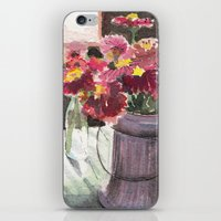 zinnias at sunset iPhone & iPod Skin