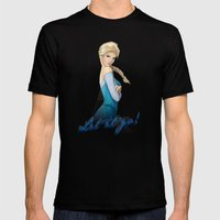 Let it go! Mens Fitted Tee Black SMALL