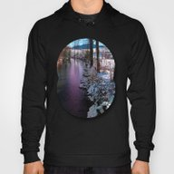 Quiet River In Winter Ti… Hoody