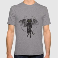 Batcat Rises Mens Fitted Tee Athletic Grey SMALL
