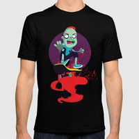 Skater Zombie Mens Fitted Tee Black SMALL