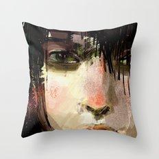 Poster Girl Throw Pillow