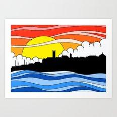 Penzance Skyline Art Print