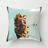 Bird Keeper Throw Pillow