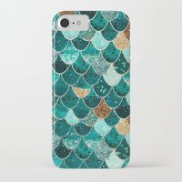 gold iPhone & iPod Cases featuring REALLY MERMAID by Monika Strigel