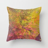 NEON MOUNTAINS / PATTERN SERIES 006 Throw Pillow