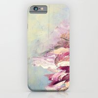 WINTER DREAMLAND 1 Colorful Pastel Aqua Marsala Burgundy Cream Nature Sea Abstract Acrylic Painting  iPhone 6 Slim Case