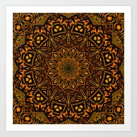 Caution Zone Mandala Art Print