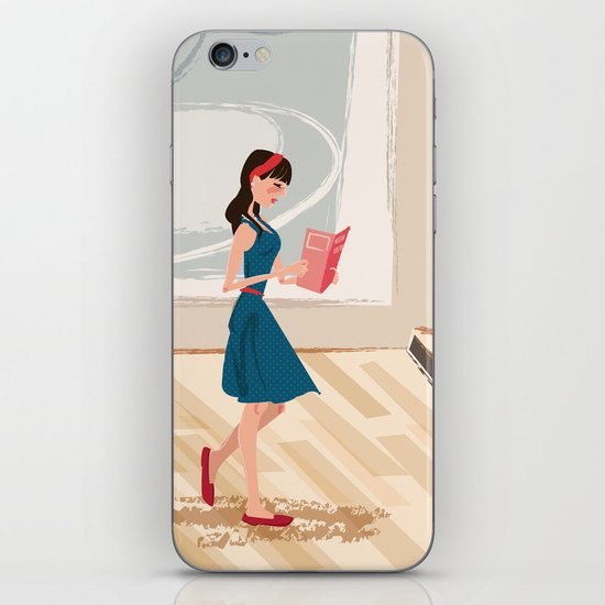 Pretty Girl at the Art Museum iPhone & iPod Skin