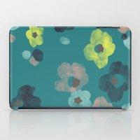 Watercolor Blooms - in Teal iPad Case