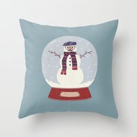 Let it snow, man! Throw Pillow
