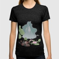 The ghost of the lake Womens Fitted Tee Tri-Black SMALL
