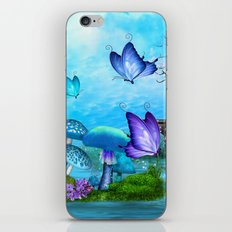 Mystic Whimsey Butterfly Pond Fantasy iPhone & iPod Skin
