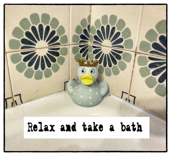 Relax and take a bath Art Print