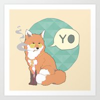 Mr Fox Art Print