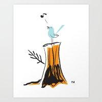 Nursery Bird Art Print