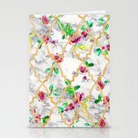 Marble Rose FLoral Stationery Cards