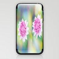 Pink Flower Power iPhone & iPod Skin