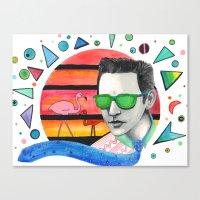 Halt and Catch Joe Canvas Print
