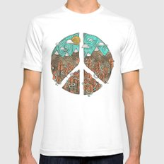 Peaceful Landscape Mens Fitted Tee White SMALL