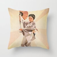 Polygonal Japanese Dance… Throw Pillow
