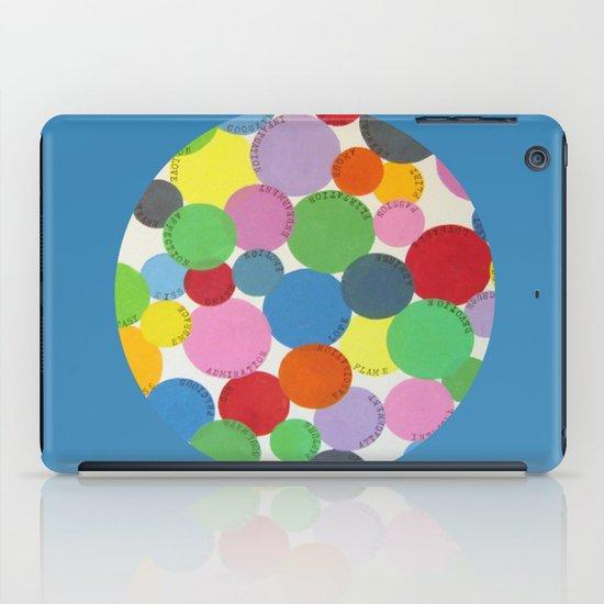 Word Bubbles Blue iPad Case