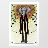 Ganesh Awake Art Print