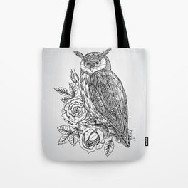 Tote Bag - Owl with flowers - UniqueD