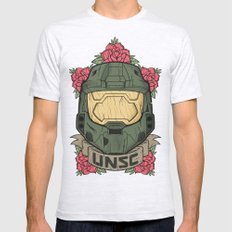 Halo UNSC Mens Fitted Tee Ash Grey SMALL