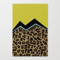 Sassy Babe - Chartreuse Canvas Print