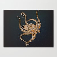 Embrace Of The Octopus Canvas Print
