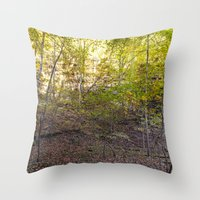 Morning Light In The For… Throw Pillow